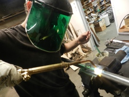 Brass Brazing in action!