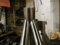 Close up of seat stays
