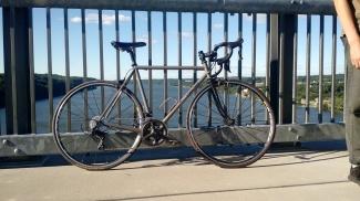 Bike Against A Bridge