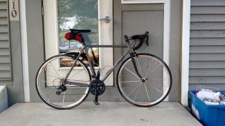 Bike Against A House